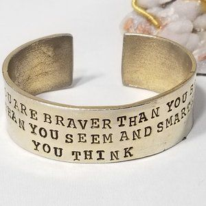 ALISA MICHELLE GOLD MOTIVATIONAL CUFF